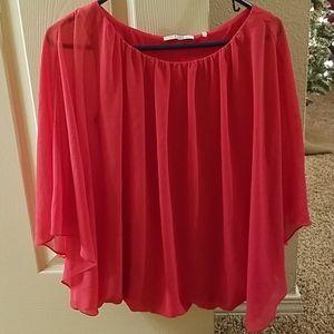 Tahari pink blouse